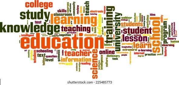 Education word cloud concept. Vector illustration