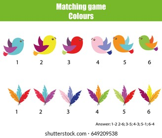 Matching images stock photos vectors shutterstock educational children game matching game worksheet for kids match by color find pairs ccuart Choice Image