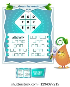 educational game for kids and adults development of logic, iq. Task game for children guess the words