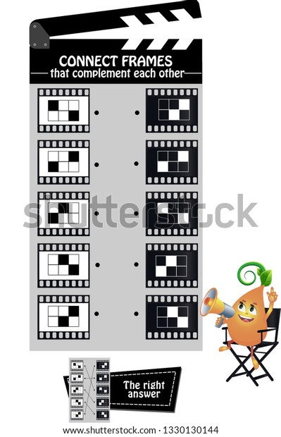 Educational Game Kids Adults Development Logic Stock Vector Royalty Free 1330130144