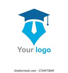 Educational logo design, elegant, nice and simple