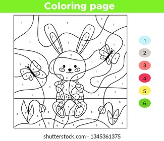 educational number coloring page kids 260nw