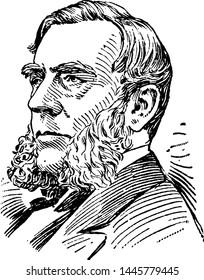 Edwin Morgan, vintage engraved illustration