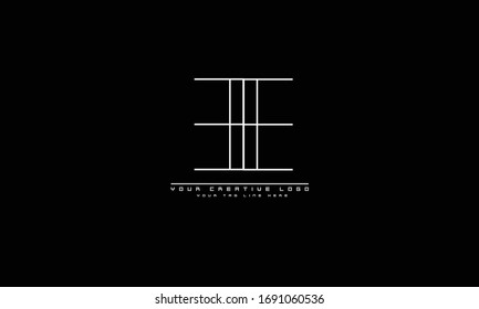 EE abstract vector logo monogram template