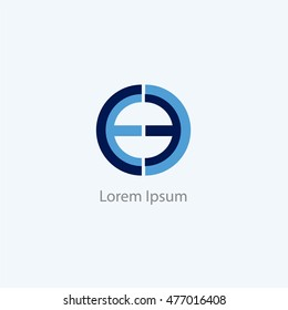 EE, EO letters logo, C, O and E letter logo alphabet design.