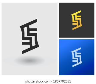 EE ESE letter Logo vector monogram modern clean style simple initial logo template mobile apps idea