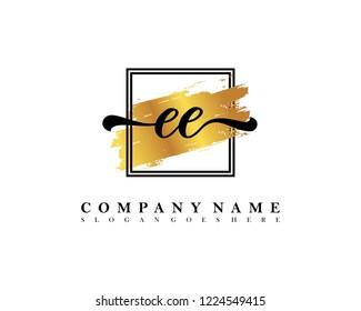 EE Initial handwriting logo concept