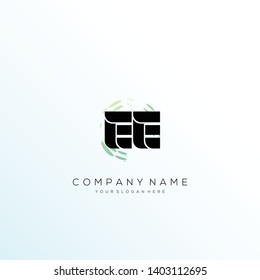 EE initial letter abstract logo design vector.