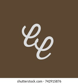 EE Letter creative square background