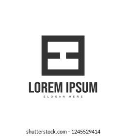 EE Letter logo design. Initial letter logo template design