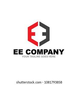 EE letter logo design vector icon