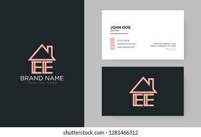 EE Letter Real Estate Logo Design - Real estate logo