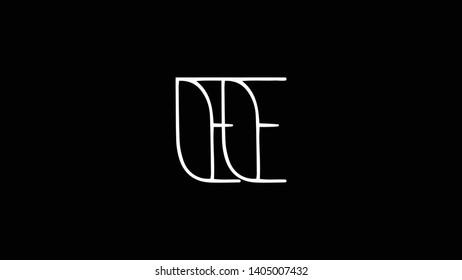 EE logo design template vector illustration
