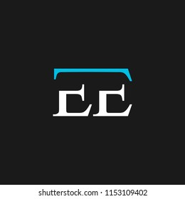 EE logo designed with letter E in vector format.