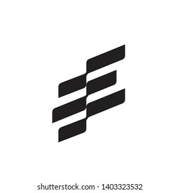 ee logo flag modern and minimals concept with wave style