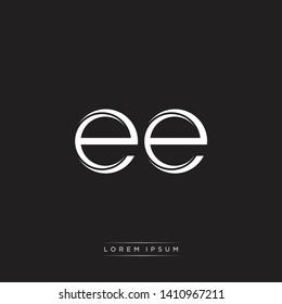 ee logo Initial Letter Split Lowercase Monogram Logo White