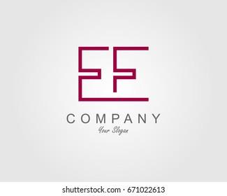 EE Logo. Letter design vector