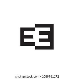 EE Monogram Logo / EE Negative Spaces Logo / E in E Logo