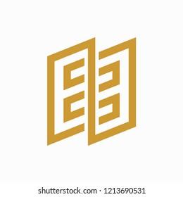 EE Monogram Logo Vector