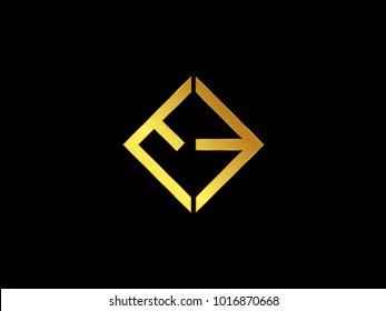 EE square shape Gold color logo