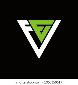 ee triangle typhography vector logo