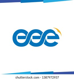 eee Initial Letter Logo Icon Vector template