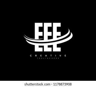 EEE Letter Creative Modern Monogram Elegant Three Swoosh Logo
