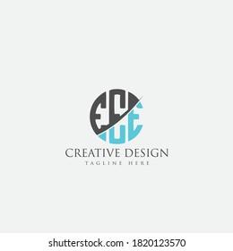 EEE Letter Logo Design Cross Monogram Icon.
