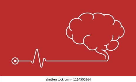EEG Electroencephalogram concept icon vector background