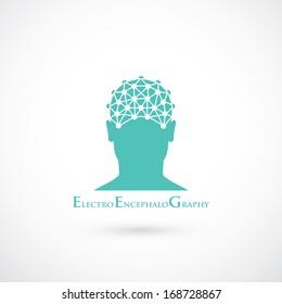 EEG symbol - vector illustration