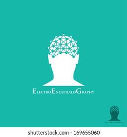 EEG test symbol - vector illustration