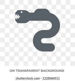 Eel icon. Trendy flat vector Eel icon on transparent background from animals  collection. High quality filled Eel symbol use for web and mobile