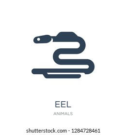 eel icon vector on white background, eel trendy filled icons from Animals  collection, eel vector illustration