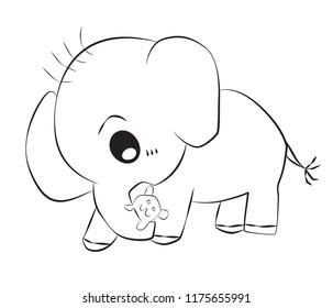Eephant cartoon illustration design