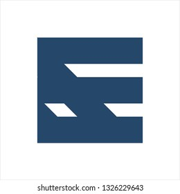 EF, FE initials geometric letter company logo