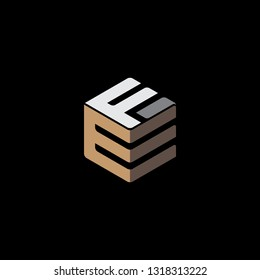 EF Initial clever logo vector