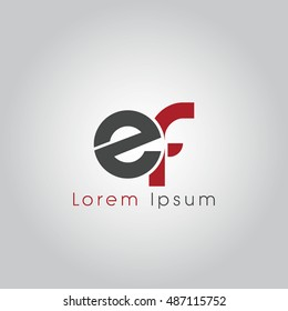 ef initial letter linked lowercase logo. e and f vector template design.