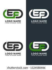 EF initial logo template vexctor