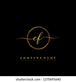 EF Initial luxury handwriting logo vector