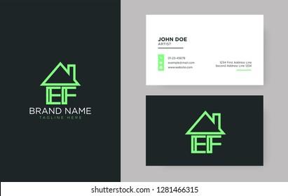 EF Letter Real Estate Logo Design - Real estate logo