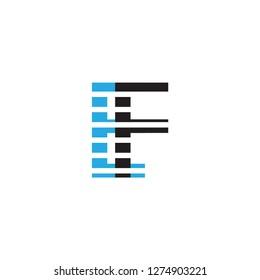 ef letter vector logo