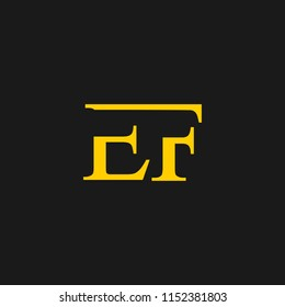 EF logo designed with letter E and F in vector format.
