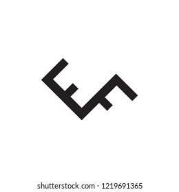 EF logo letter design