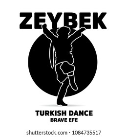 Efe turkish brave person performing Zeybek dance of Turkey