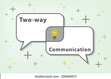 effective communication is two ways communication (vector eps10). helping us getting a good teamwork and ideas.