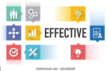 EFFECTIVE FLAT ICON SET