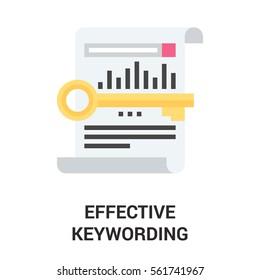 effective keywording icon concept.