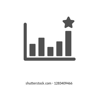Efficacy icon. Business chart sign. Analysis graph symbol. Quality design element. Classic style icon. Vector