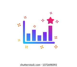 Efficacy icon. Business chart sign. Analysis graph symbol. Dynamic shapes. Gradient design efficacy icon. Classic style. Vector