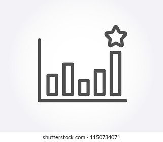 Efficacy line icon. Business chart sign. Analysis graph symbol. Quality design element. Classic style. Editable stroke. Vector
